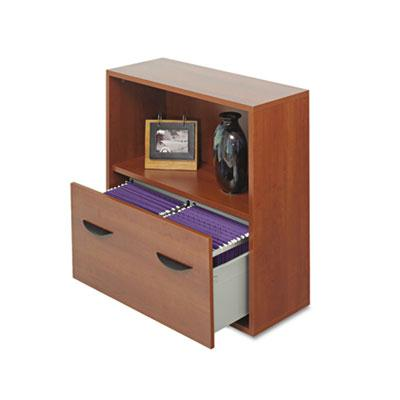 Safco Apres Modular Storage Shelf with Lower in Cherry 9445CY
