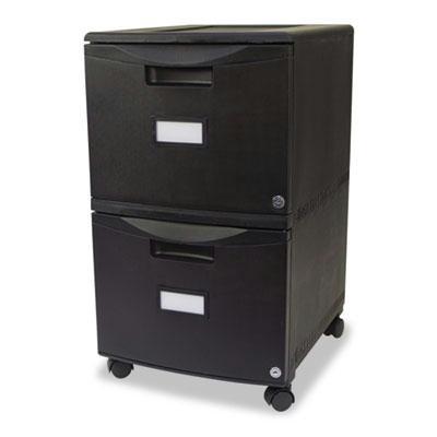 Storex 61309B01C 2-Drawer File/File Mobile Pedestal  Black 61309B01C