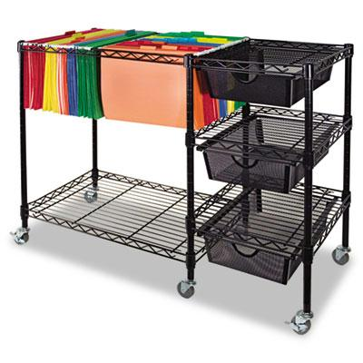 Advantus Mobile File Cart with Drawers VF50621