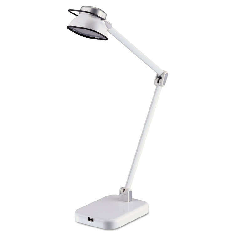 "Black & Decker PureOptics Elate 21"" H LED Desk Light Lamp White"