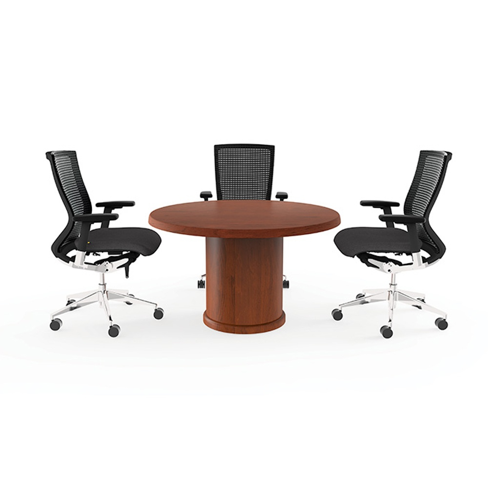 "Cherryman Ruby 48"" Round Conference Table Paprika Cherry"