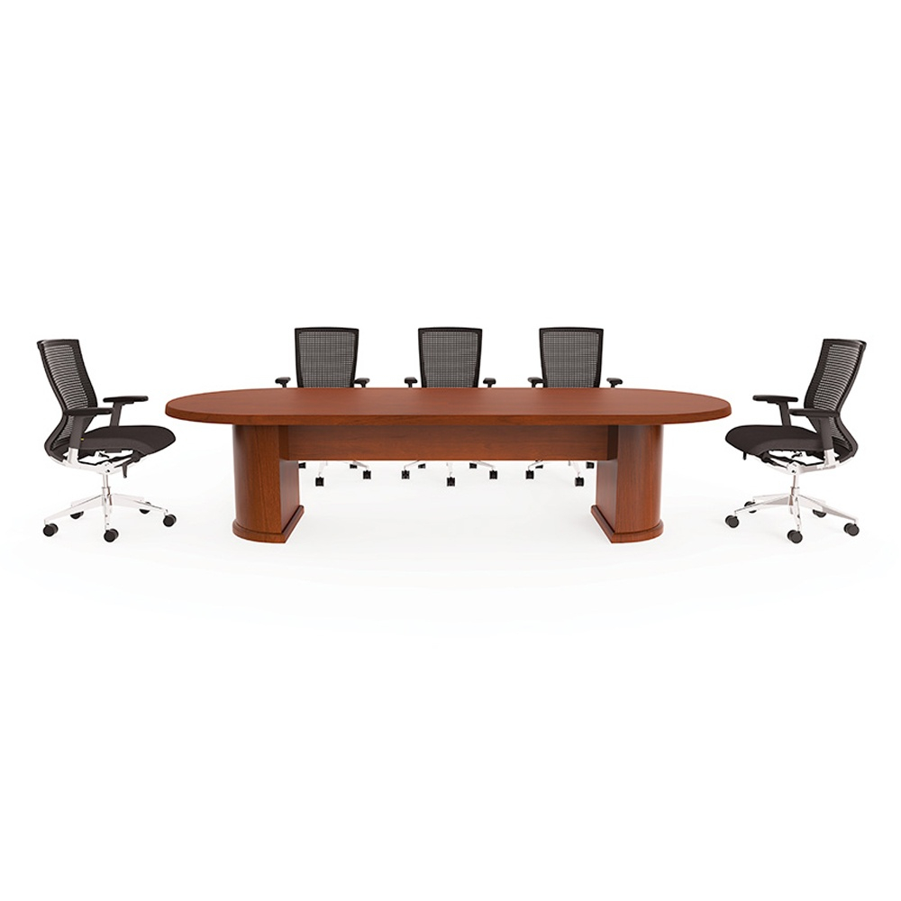 Cherryman Ruby 10 Ft Racetrack Conference Table Paprika Cherry