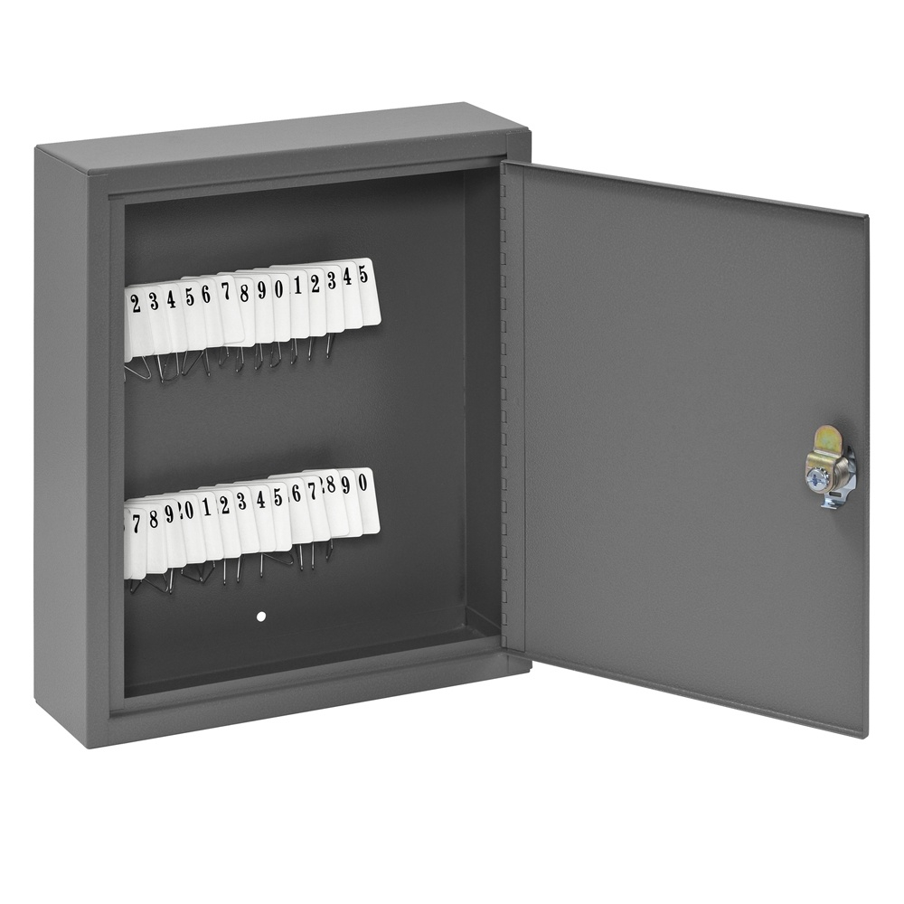 Buddy Products 30 Key Tag Slot Key Cabinet