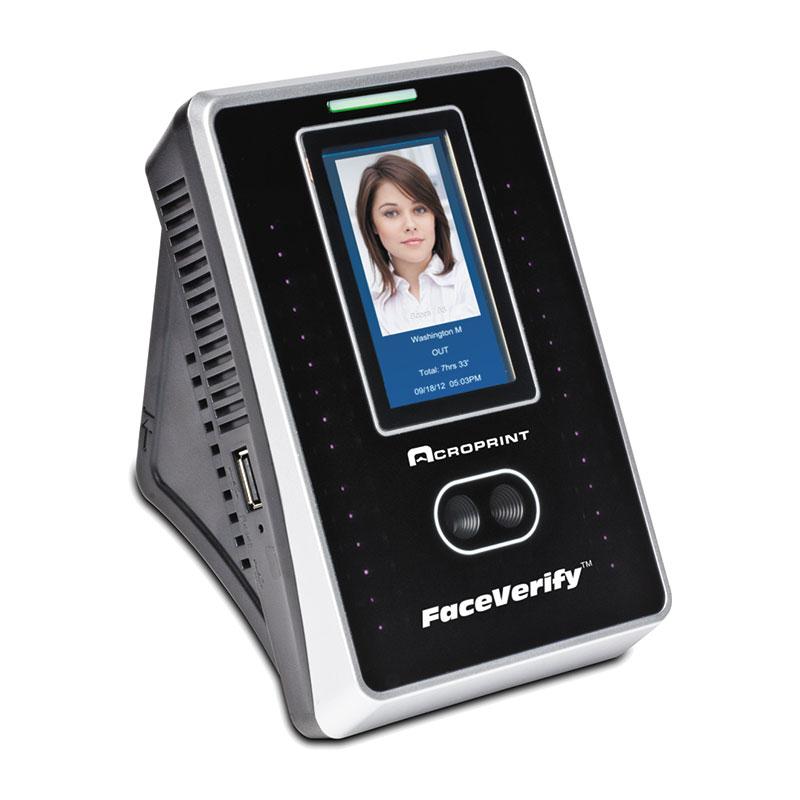 Acroprint Timeqplus Faceverify Biometric Facial Recognition Time Clock System Bundle