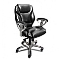 Mayline UL330M Ultimo Genuine Leather Synchro Tilt Mid-Back Office Chair