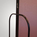 Sturdy powder coated steel end frame on longer/taller units